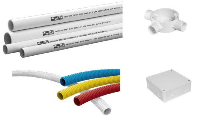 thi công hệ thống điện nước- sử dụng ống điện đúng chất lượng